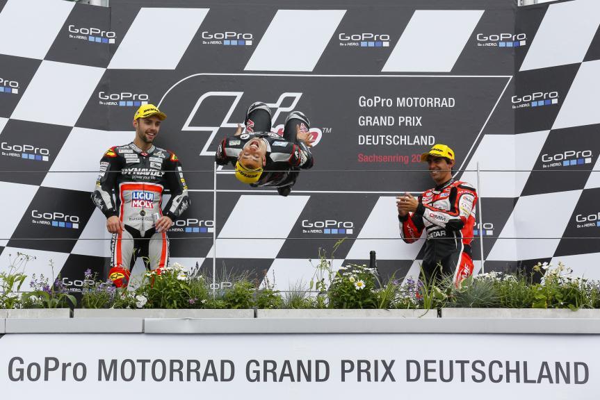 Podium Moto2, GoPro Motorrad Grand Prix Deutschland