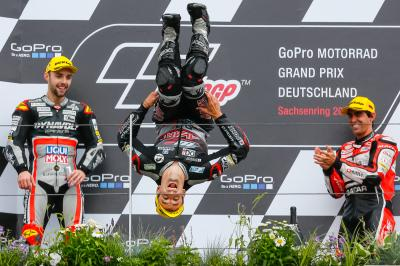Zarco wins Moto2™ war of attrition in Germany