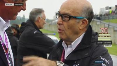 Carmelo Ezpeleta turns 70 at the #GermanGP