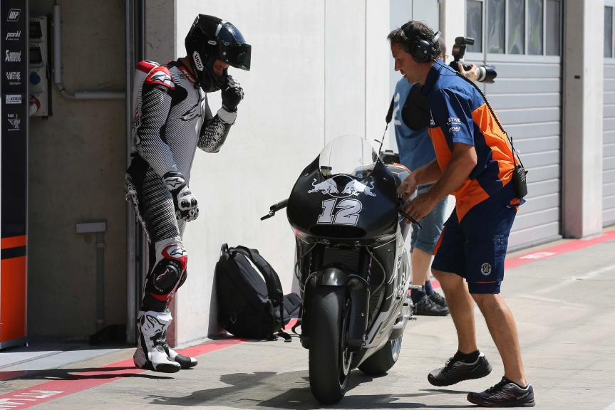 Thomas Luthi, MotoGP Private Test Austria © Marco Guidetti