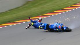 A detailed look at the cause and effect of the noteworthy crashes of the #GermanGP.