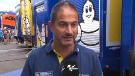 Michelin's Piero Taramasso explains the tyre options for the test, including new rear tyres designed specifically for Austria.