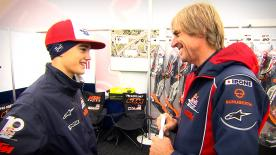 Go behind the scenes and spend a day with the last Austrian to win a GP, who now helps to develop the future stars of MotoGP™.