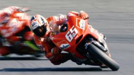 Find out about the blisteringly powerful Ducati Desmosedici that made its MotoGP™ in 2003 at the hands of Loris Capirossi.