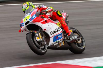 Iannone hits back as Marquez takes a tumble