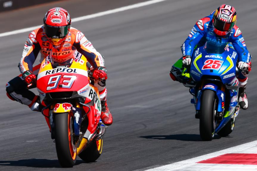 Maverick Viñales, Marc Marquez, NeroGiardini Motorrad Grand Prix von Österreich