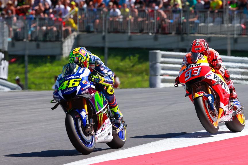 Valentino Rossi, Marc Marquez, NeroGiardini Motorrad Grand Prix von Österreich