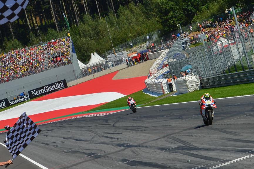Andrea Iannone, Andrea Dovizioso, Ducati Team, NeroGiardini Motorrad Grand Prix von Österreich