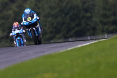 La pluie écourte la journée d'essais Moto3™ en Autriche