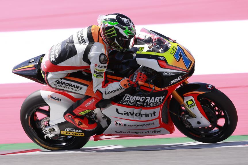 Lorenzo Baldassarri, Forward Team, Test Austria, Moto 2 & Moto 3