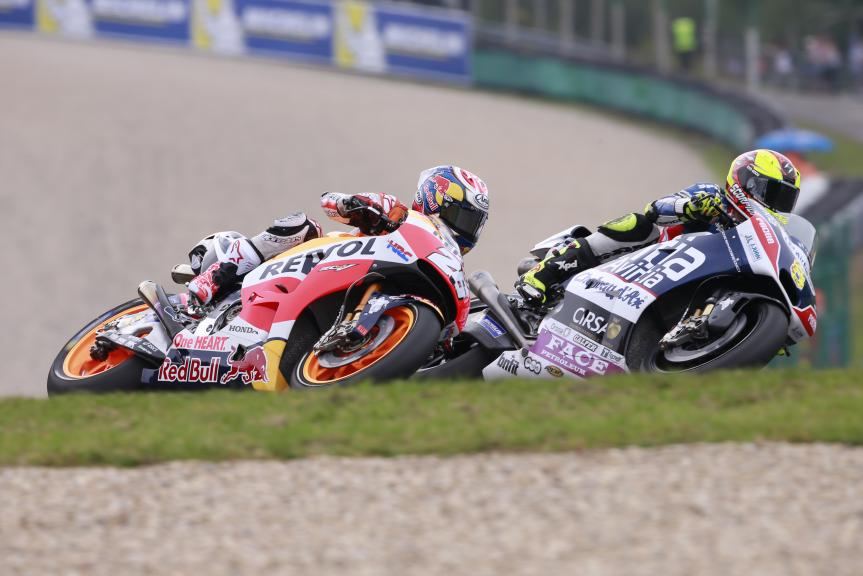 Hector Barbera, Dani Pedrosa, HJC Helmets Grand Prix České republiky