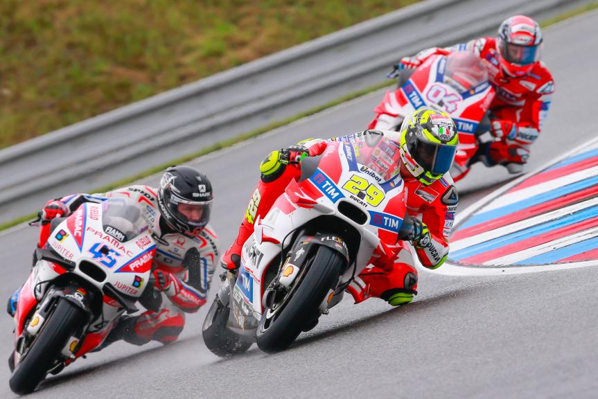 Andrea Dovizioso, Andrea Iannone, Scott Redding, HJC Helmets Grand Prix České republiky