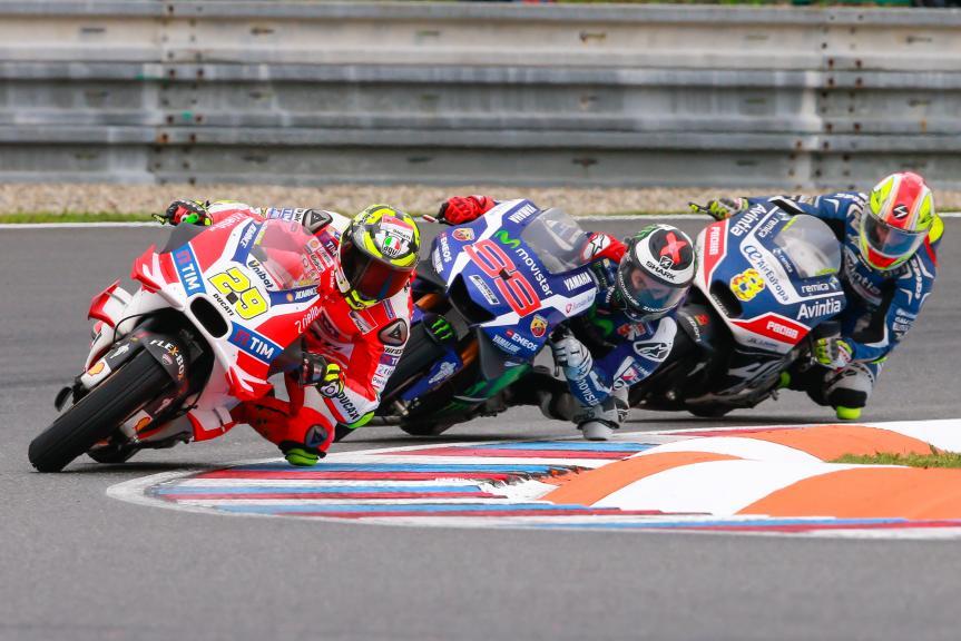 Andrea Iannone, Marc Marquez, Hector Barbera, RHJC Helmets Grand Prix České republiky