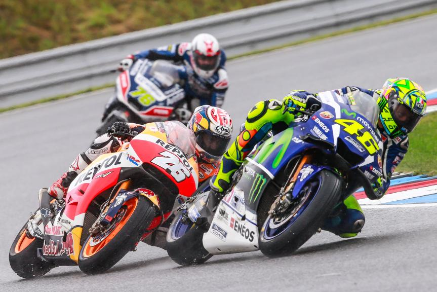 Dani Pedrosa, Valentino Rossi, HJC Helmets Grand Prix České republiky