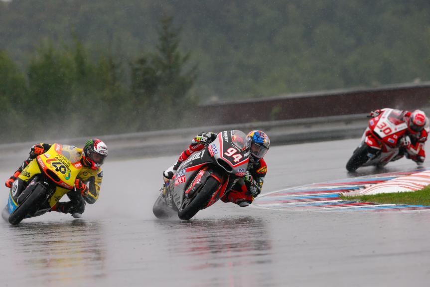 Jonas Folger, Takaaki Nakagami, Alex Rins, HJC Helmets Grand Prix České republiky