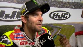The British rider Cal Cruthlow wins his first MotoGP™ race at Brno.