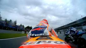 Enjoy the MotoGP™ race start from the point of view of the top riders.
