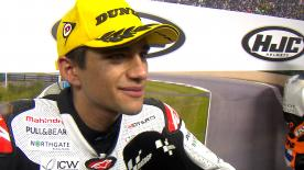 In Moravia primo podio in Moto3™ per lo spagnolo di Mahindra.