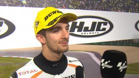 John McPhee vince la sua prima gara nella categorie e confessa di aver sognato il podio la notte precedente.
