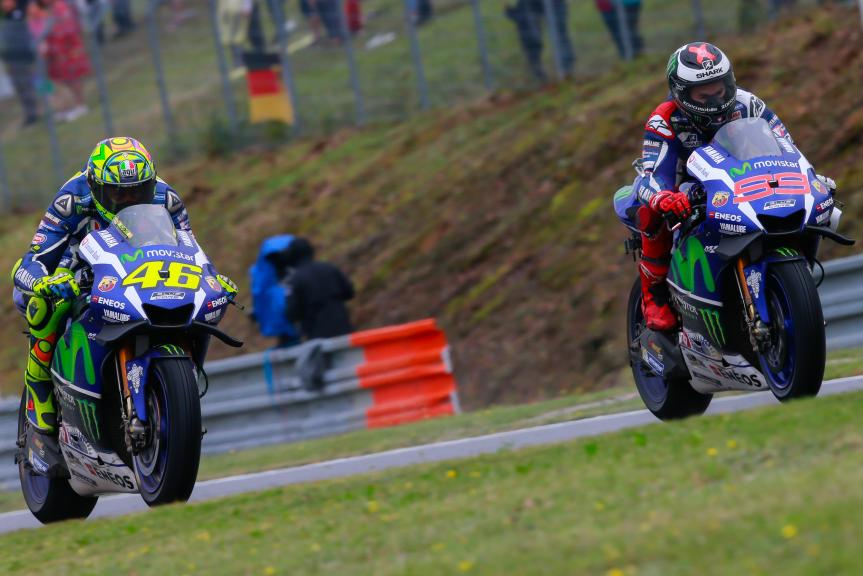 Valentino Rossi, Jorge Lorenzo, Movistar Yamaha MotoGP, HJC Helmets Grand Prix České republiky