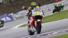 Cal Crutchlow became the first British rider to win a premier class race for 35 years, with Rossi and Marquez completing the podium.