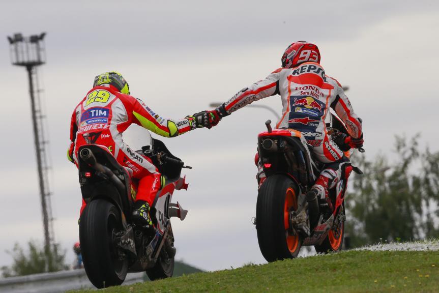 Andrea Iannone, Marc Marquez, HJC Helmets Grand Prix České republiky