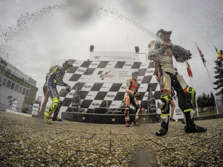 Cal Crutchlow, Valentino Rossi, Marc Marquez, HJC Helmets Grand Prix České republiky