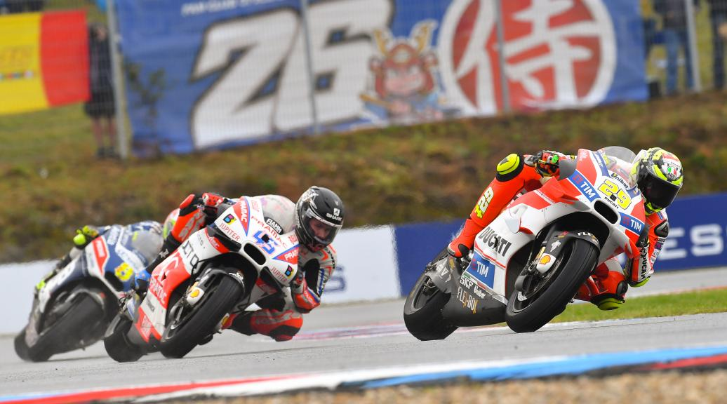 Andrea Iannone, Ducati Team and Scott Redding, OCTO Pramac Yakhnich, HJC Helmets Grand Prix České republiky