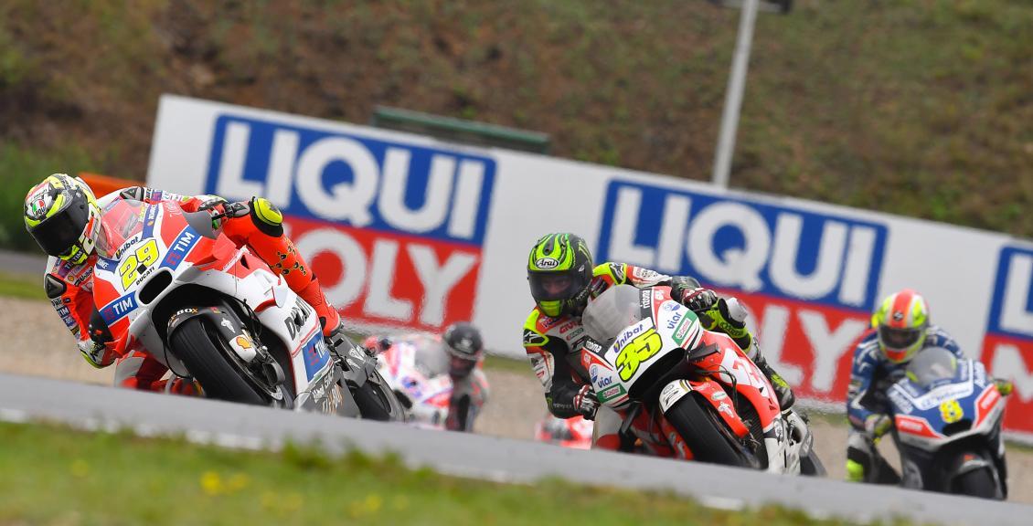 Andrea Iannone, Ducati Team and Cal Crutchlow, LCR Honda, HJC Helmets Grand Prix České republiky