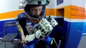 Sulla moto di Oettl e l'emozione del padre Peter, suo team manager. I filmati esclusivi con la GoPro™ dal tracciato di Brno.