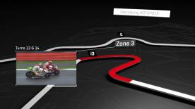 A look at the areas where the most overtakes occur at the #BritishGP.