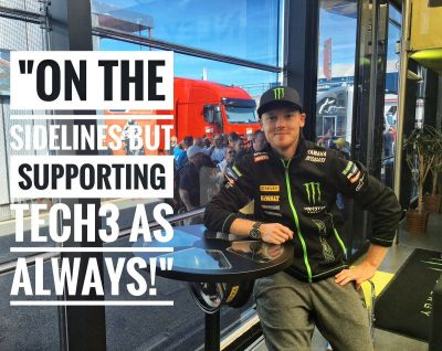 He may be injured, but Brad still came to the #BritishGP to see hi to #Tech3 + his fans!