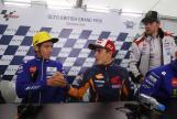 Marc Marquez, Repsol Honda Team and Valentino Rossi, Movistar Yamaha MotoGP, Octo British Grand Prix