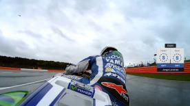 Jorge Lorenzo wird in Silverstone am Sonntag von Platz nen starten.