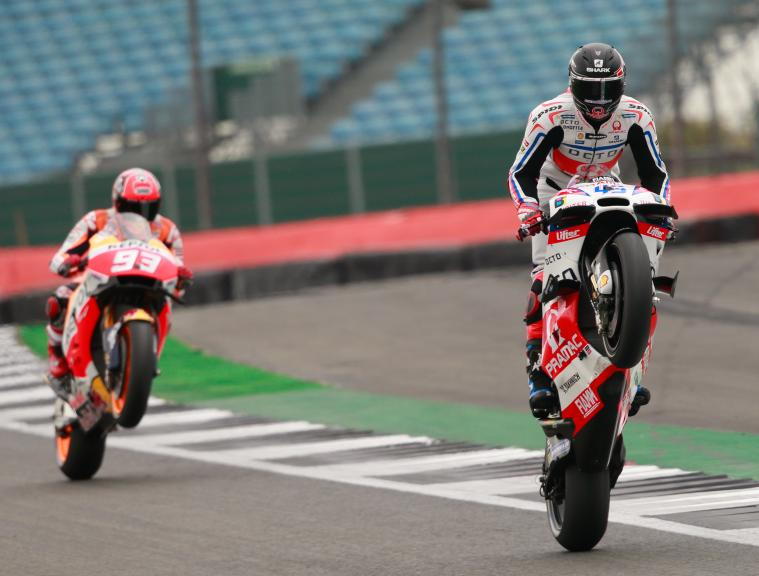 Scott Redding, OCTO Pramac Yakhnich and Marc Marquez, Repsol Honda Team, Octo British Grand Prix