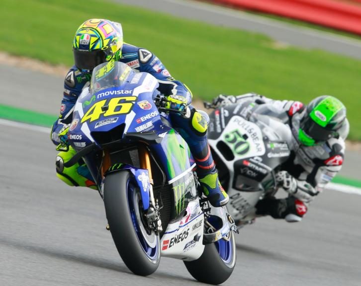 Valentino Rossi, Movistar Yamaha MotoGP and Eugene Laverty, Aspar Team MotoGP, Octo British Grand Prix