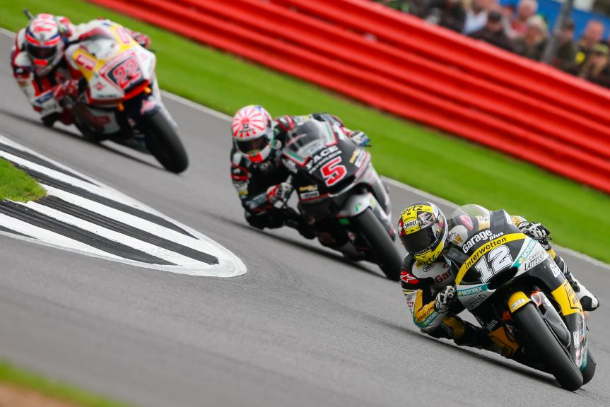 Thomas Luthi, Johann Zarco, Sam Lowes, Octo British Grand Prix