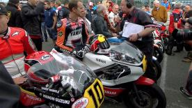 Silverstone circuit hosts a tribute to one of the UK's two-wheeled greats