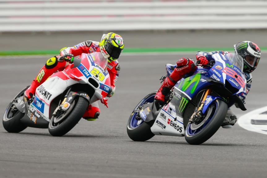 Andrea Iannone, Jorge Lorenzo, Octo British Grand Prix