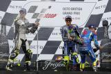 Maverick Viñales, Valentino Rossi and Cal Crutchlow, Octo British Grand Prix