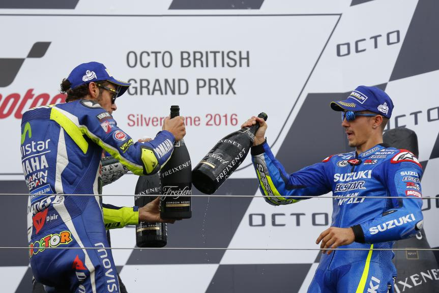 Valentino Rossi, Movistar Yamaha MotoGP and Maverick Viñales, Team SUZUKI ECSTAR, Octo British Grand Prix