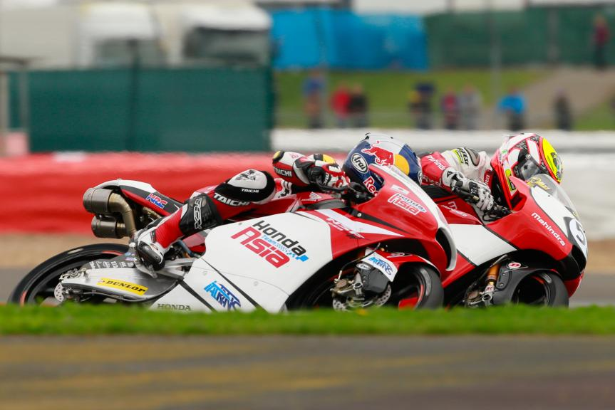 Khairul Idham Pawi, Honda Team Asia and Marco Bozzacchi, Mahindra Racing, Octo British Grand Prix