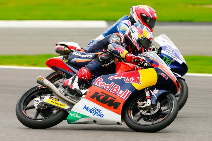 Bo Bendsneyder, Red Bull KTM Ajo and Fabio Di Giannantonio, Gresini Racing Moto3, Octo British Grand Prix
