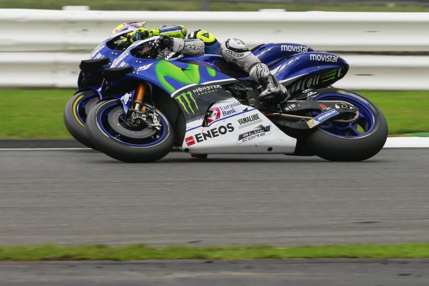 Jorge Lorenzo and Valentino Rossi, Movistar Yamaha MotoGP, Octo British Grand Prix