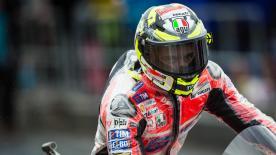 La griglia di partenza della classe MotoGP™ in Inghilterra.