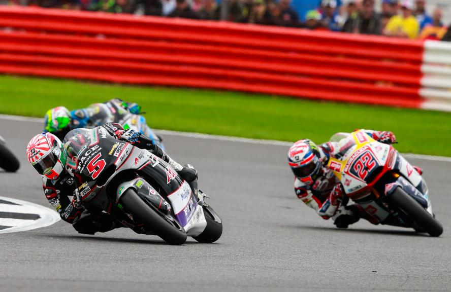 Johann Zarco, Ajo Motorsport and Sam Lowes, Federal Oil Gresini Moto2, Octo British Grand Prix