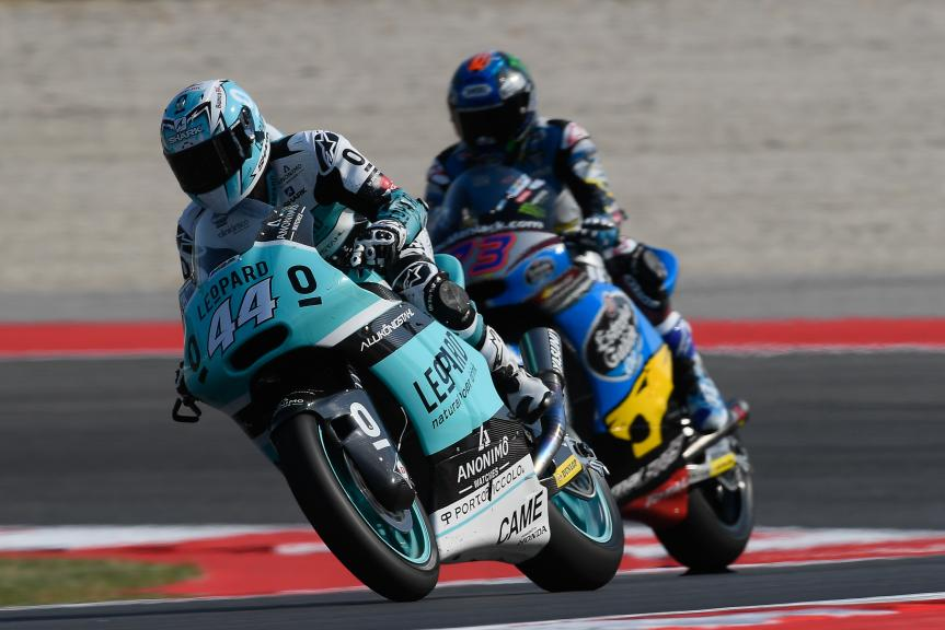 Miguel Oliveira, Leopard Racing and Alex Marquez, Estrella Galicia 0,0 Marc VDS, Gran Premio TIM di San Marino e della Riviera di Rimini