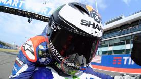 Relive Jorge Lorenzo's pole setting lap at the Misano World Circuit, complete with telemetry data.