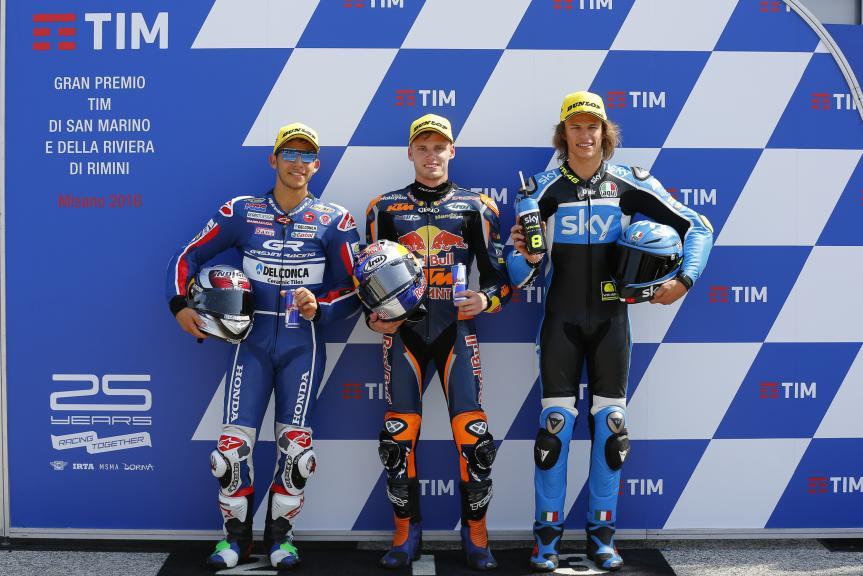 Brad Binder, Enea Bastianini, Nicolo Bulega, Gran Premio TIM di San Marino e della Riviera di Rimini