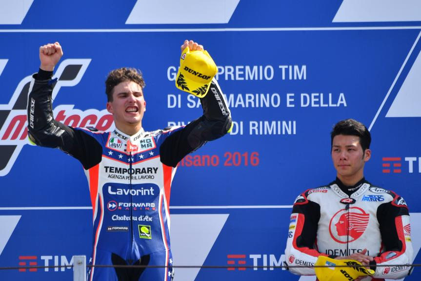 Lorenzo Baldassarri, Forward Team and Takaaki Nakagami, IDEMITSU Honda Team Asia, Gran Premio TIM di San Marino e della Riviera di Rimini